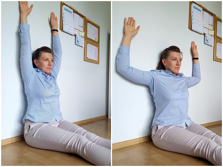 test przy ścianie jak przestać się garbić